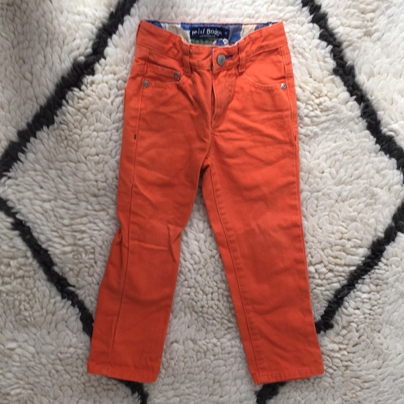 8d6ebd4f9 Mini Boden boys orange jeans. M_5aac1cf7b7f72bee301aba67